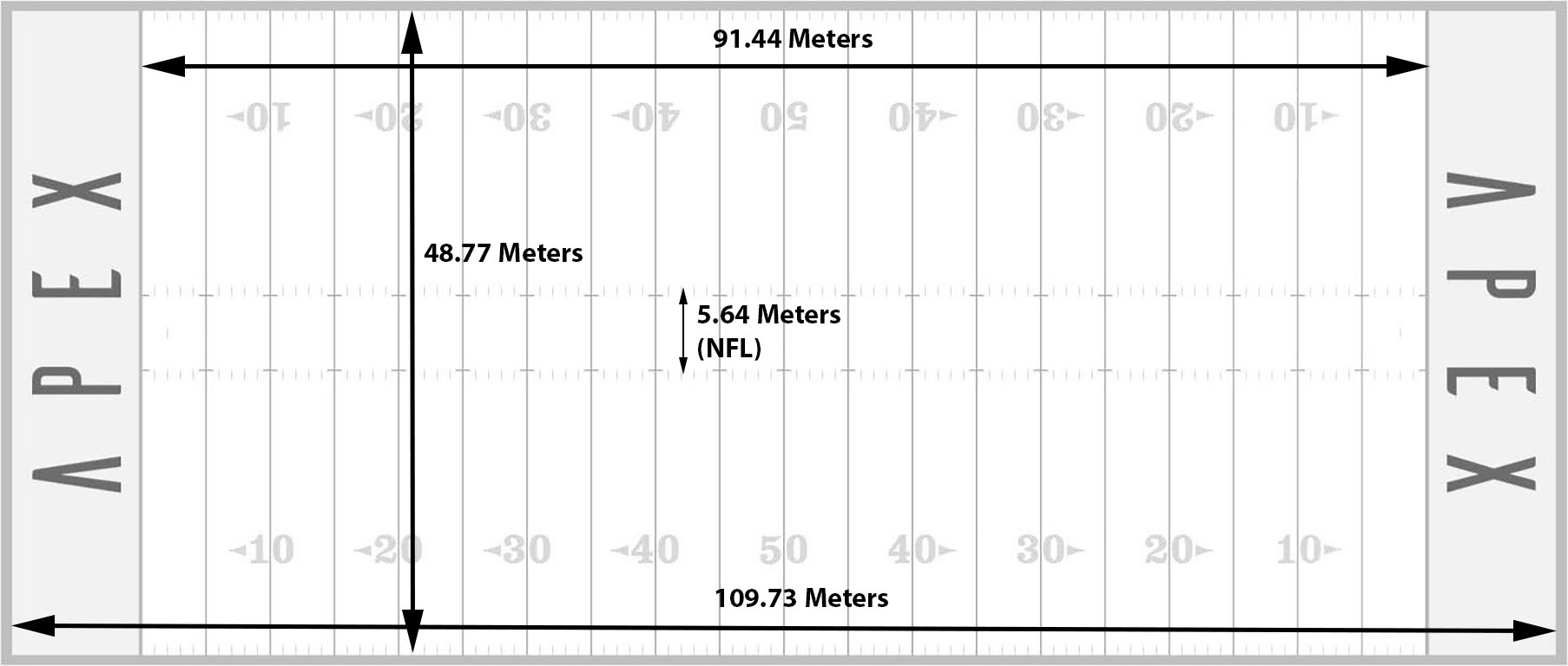 Image result for nfl field measurements